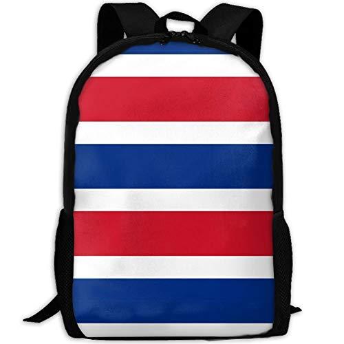 Bandera de Costa Rica Mochila de Viaje para Adultos Mochila Escolar Informal Bolsa para computadora portátil al Aire Libre Bolsas de Hombro para computadora universitaria