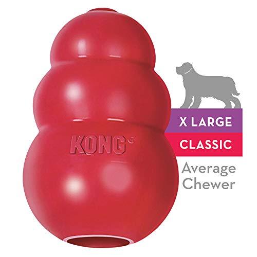 KONG - Classic Gioco cani, gomma naturale resistente - Masticare, inseguire e riportare - Taglia XL