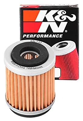 K&N Motorcycle Oil Filter: Premium High Performance Oil Filter designed to be used with synthetic or conventional oils fits Yamaha XT, TTR, TW, SR Oil Filter KN-143
