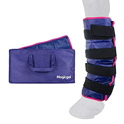 Horse Ice Pack - Cooling Leg Wraps for Hock, Ankle, Knee, Legs Boot and Hoove. (Single Ice Boot, by Magic Gel)
