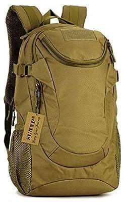 Huntvp 25L Tactical Backpack Rucksack WR Tactical Assault Pack Military Bag (Brown)