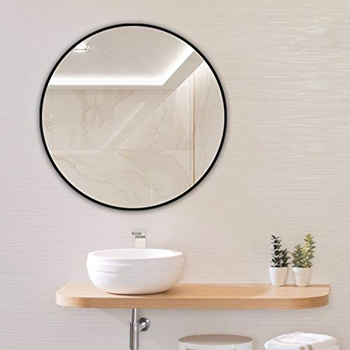 Huimei2Y Circle Mirror, 15.7 Inch Wall Round Mirror with Metal Frame for -