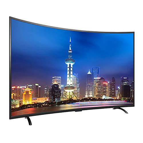 LINGXIU TV LCD, TV Inteligente Curvada, La Resolución Más Alta 3840 * 2160, TV De Red De Espejo De Proyección De Pantalla De Soporte, Adecuada para Todos