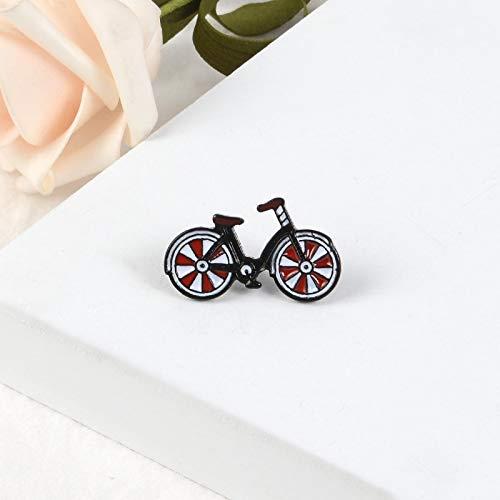Transport Fahrrad Pin Cartoon Rote Abzeichen Training Gesundheit Broschen Abzeichen Denim Kragen Schmuck für Freund Kinder Geschenke