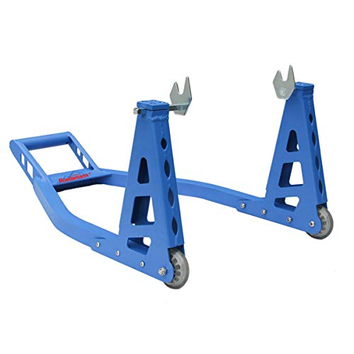 Ruedamann Motorcycle Stand,Motorcycle Stand Rear,Motorcycle Storage Lift Stand for Sport Bike,Fits Yamaha Honda Kawasaki Suzuki Ducati BMW,Rear stand,Blue (MOS03-R-B)