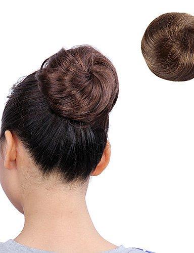 ahom (perruque Noble Bracelet en Caoutchouc Attaché en fibre Kanekalon japonais synthétique Marron clair droit extensions de cheveux long