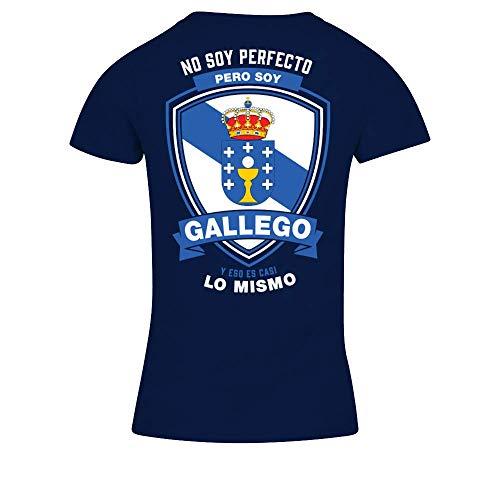 TEEZILY Camiseta de Pico Mujer Gallego y eso es Casi lo Mismo