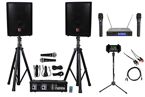 "Rockville Dual 10"" Android /iphone/ipad/Laptop/TV Youtube Karaoke Machine/System"