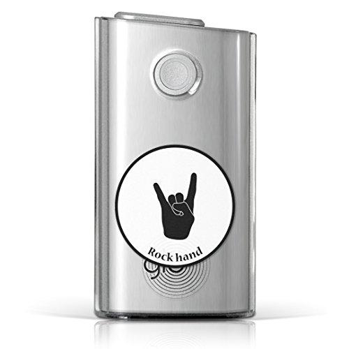 glo グロー グロウ 専用 クリアケース クリアカバー タバコ ケース カバー 透明 ハードケース カバー 収納 デザイン ポリカーボネート 音楽 ロック 手 011693