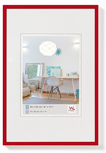walther design KV130R New Lifestyle Kunststoffrahmen, 1 (21 x 29,7 cm), rot