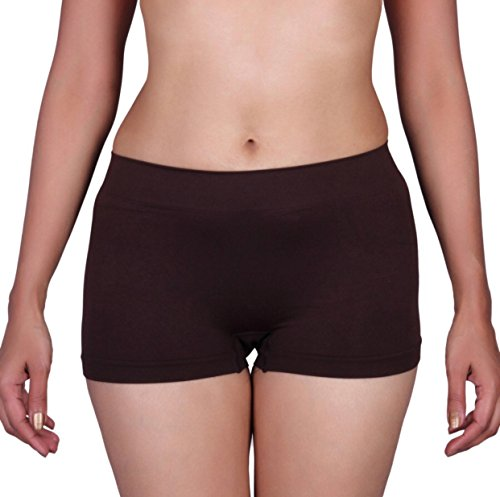 Pretty Awesome Womens Boxer Briefs (Brown, Free Size)