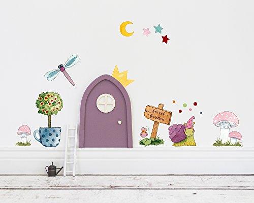 TinyFoxes Wandtattoo Secret Garden für die Feentür im Kinderzimmer