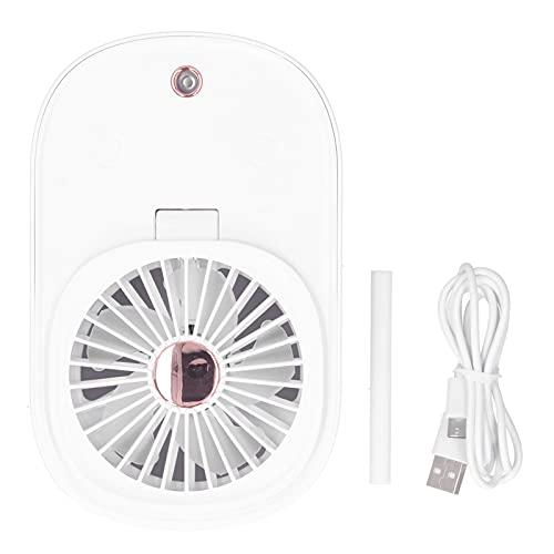 Tnfeeon Ventilador eléctrico Plegable Ventilador de 90 Grados Ventilador eléctrico humidificador 2 en 1 portátil para Oficina en casa(Blanco)
