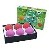 Zkung sports Futbolín de mesa, pelotas de fútbol, 36 mm, color rojo y lila