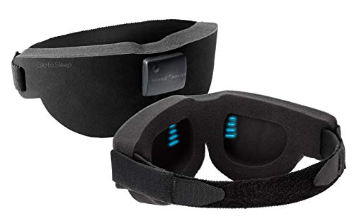 Sound Oasis GTS-2000 Deluxe Glo to Sleep Therapy Mask, Black