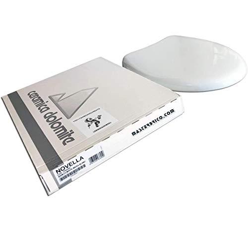 Copriwater Dolomite Novella ORIGINALE in termoindurente cerniere inox codice J102500 bianco