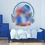 3D Pegatinas 3D Vinilo Decorativo Infantil de Pared 3D Vinilo Pegatinas Decorativas Adhesiva Pared Dormitorio Salón Guardería Habitación Infantiles Niños Bebés 32 *30.6 cm