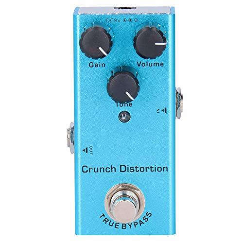 Pedal de efecto de distorsión Crunch, azul, portátil, aleación de aluminio, Mini...