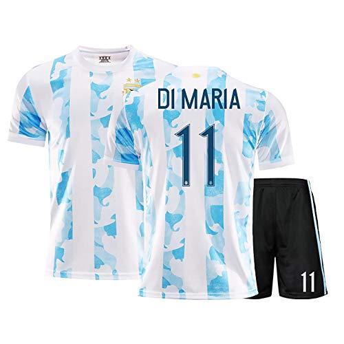 LISI 20-21 Cancha de Casa Argentina Uniforme de Fútbol Replica Messi Camiseta de Futbol para Adulto y Niños Deportes Aire Libre,B,22