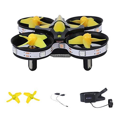 YAHCQ R9 Drohne Mit LED, Anfängerdrohne, Schwerkraftmessmodus, Feste Luftdruckhöhe, 360 Grad Rolle, Rundumschutz, Geeignet Für Anfänger, Kinder,Gelb