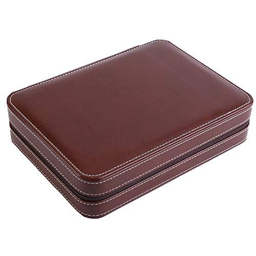 Uhr Aufbewahrungskoffer, 1 Stück 8 Grids Uhr Display Aufbewahrungsbox Tragbar Mit Reißverschluss Reisesammler Fall Uhr Box Organizer für Zuhause/Reisen/Geschäft, Leichtgewicht(Kaffee)