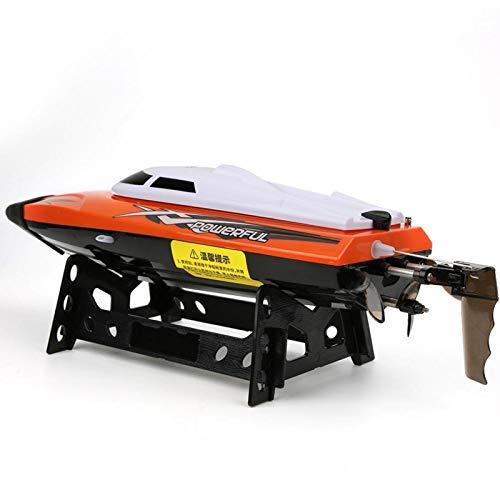 DAUERHAFT Lancha rápida para niños, Modelo de Juguete, Motor Submarino, propulsor, Barco de simulación con Alarma de bajo Voltaje para la interacción Entre Padres e Hijos(Red)