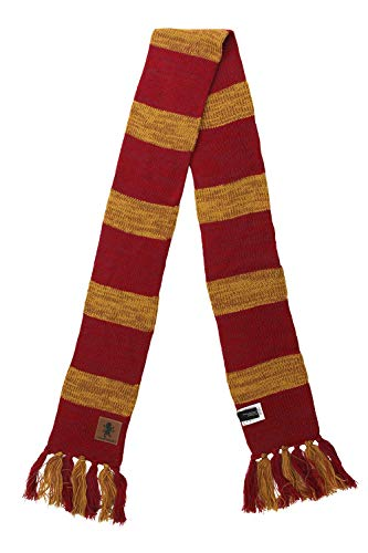 Harry Potter Gryffindor Heathered Knit Scarf for Cosplay, Winter Wear or Costume adults kids
