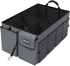 Drive Auto Trunk Organizers and Storage - Collapsible Multi-Compartment Car Organizer w/ Adjustable Straps - Automotive Consoles & Organizers (Tan)