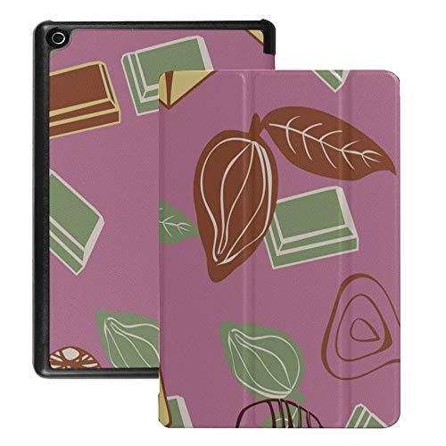 Fire Tablet Hd 8 Cover Valentinstag Schokolade Handbemalte süße romantische Liebe Dessert Fall für Fire Tablet 8 Hd (2018 2017 2016 Release, 8./7 ./6. Generation) Mit Auto Wake/Schlaf