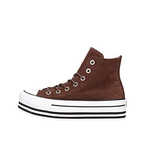 Botas para Mujer, Color marrón, Marca CONVERSE, Modelo Botas para Mujer CONVERSE HI Lift Suede Marrón