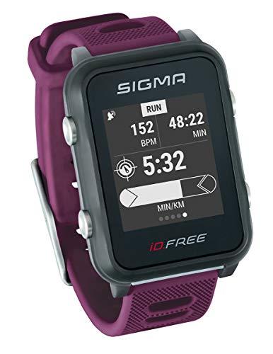 Sigma Sport Unisex– Erwachsene iD.FREE Multisport Uhr, Plum,