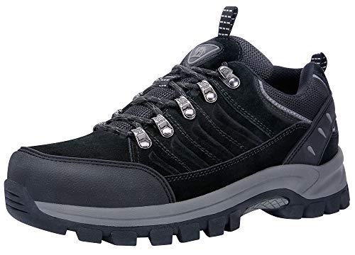 CAMEL CROWN Hiking Shoes Women Waterproof Non Slip Sneakers Low Top for Outdoor Trekking Walking Black 8.5