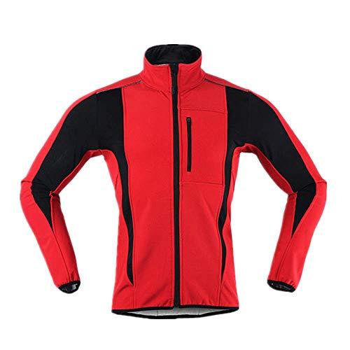 N\P Chaqueta de invierno para hombre, térmica, cálida, resistente al viento, impermeable, de manga larga, reflectante, para bicicleta MTB