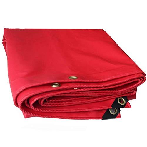 WTT afdekzeil voor auto, boot, camper, camper, kleur: rood, maat: 2 x 1,5 m