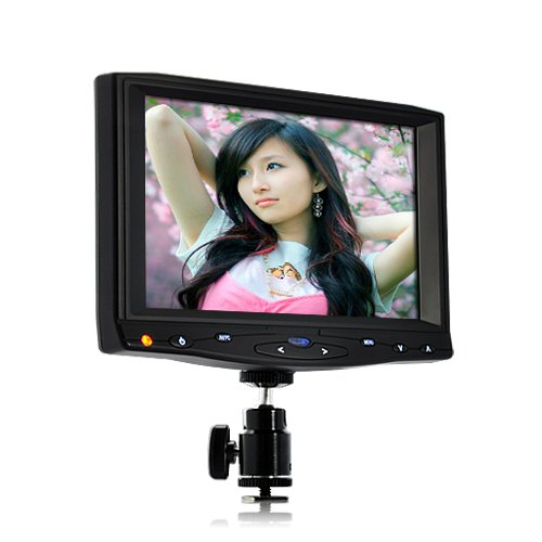 BW 7 Inch On-Camera Hd DSLR Monitor with 1080p Hdmi Av 10 Hours Working Time - Black