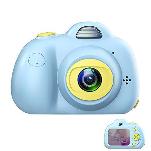 ROTEK Kinderkamera, Digitale Kamera für Kinder 1080P HD Videofunktion Digitalkamera 8MP 2.0 Farbdisplay Mini Action Camcorder Camera, Spielzeug und Geschenk für Kinder(Blau)
