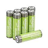 AmazonBasics AA-Batterien mit hoher Kapazität, wiederaufladbar, vorgeladen, 8 Stück (Aussehen kann variieren)