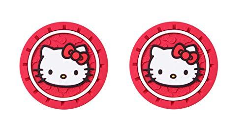 Hello Kitty Heavy Duty Rubber Auto Cup Coaster 2 pc