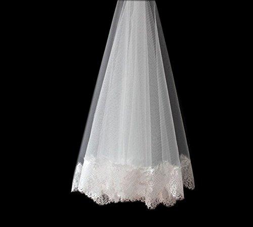 européenne élégant dentelle simple couche nuptiale de mariage voile, 2 mètres