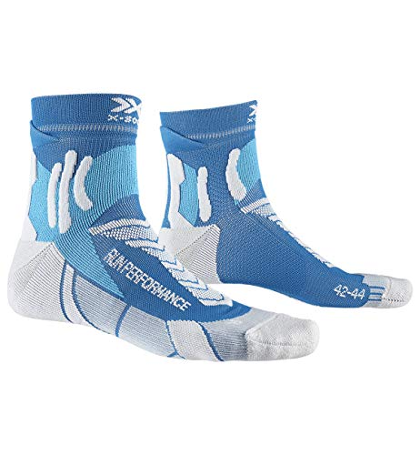 X-Socks Run Performance Socks, Unisex – Adulto, Teal Blue/Pearl Grey, 42-44