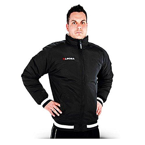Legea herenjack Ultrà met capuchon bomber winterjack windjack running voetbal hardlopen training sport (XXL, zwart)
