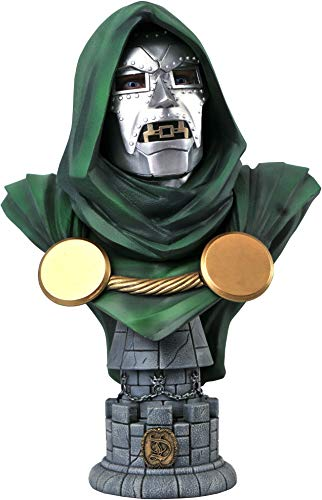 DIAMOND SELECT TOYS Marvel: Doctor Doom Legends in 3-Dimensions 1:2 Scale Bust, 10 inches