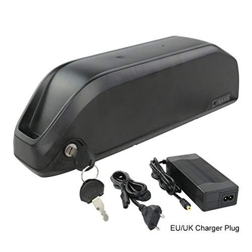 Qingmei Ebike Batterie 52V 48V 36V 12.5AH 17.5AH 18650 Batterie De Vélo Li-ION avec Chargeur/Panneau De Protection BMS/Power Display, pour Moteur De Vélo 1000W / 750W / 500W / 200W (Size : 48V17.5AH)