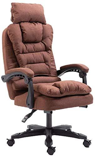 Silla para juegos MHIBAX, silla de oficina, tela con respaldo alto, escritorio para computadora, silla giratoria para tareas ejecutivas, silla para juegos, reposacabezas, sillón