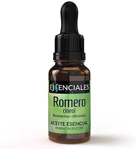Essenciales - Aceite Esencial de Romero Cineol, 100% Puro,
