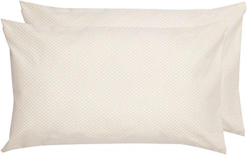 AmazonBasics - Funda de almohada de microfibra, 2 unidades, 50 x 80 cm - Amarillo
