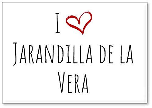 Mundus Souvenirs - Amo Jarandilla de la Vera, Imán para Nevera (diseño 2)