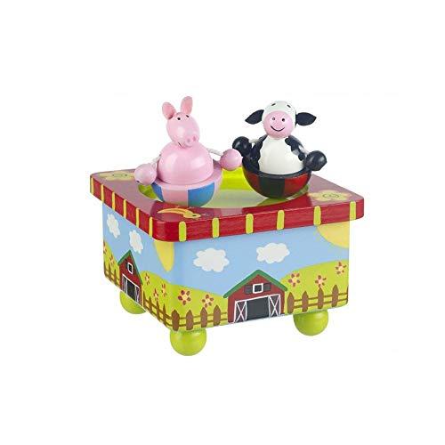 Orange Tree Toys : Boîte à musique en bois : Cour de ferme