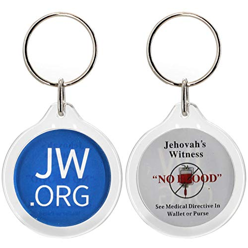 Round Jw.org No Blood Double Sided Key Chain-20 Pieces Pack