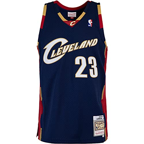 Mitchell & Ness Swingman Lebron James Cleveland Cavaliers 08/09 - Camiseta (talla XL), color azul marino